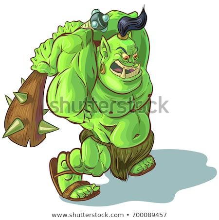 Cartoon Ogre Angry Stock photo © cthoman