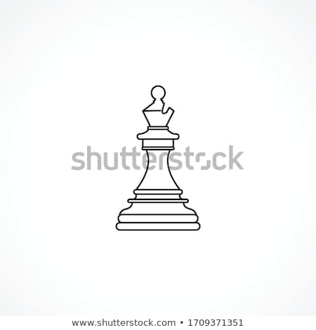 Stock photo: Wooden chess bishop