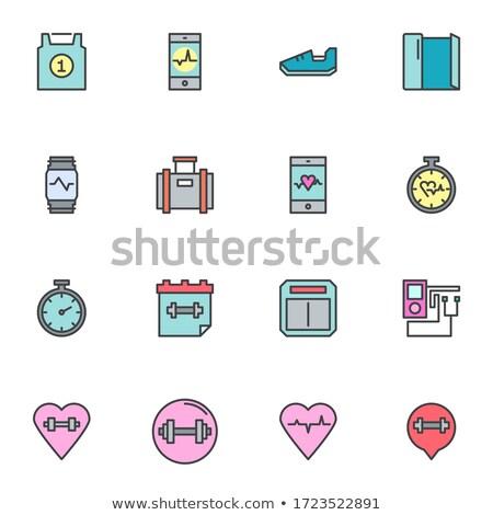 Stock photo: Calendar and Wristband Set Vector Illustration