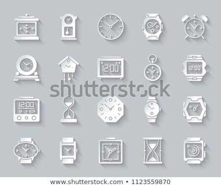 3D hourglass icons set, vector illustration. Stock photo © kup1984
