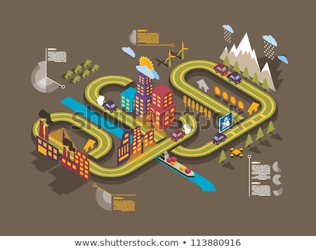 recycling   modern colorful isometric vector illustration stock photo © decorwithme