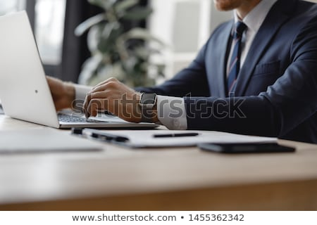 lawyer working in the office stock photo © elnur