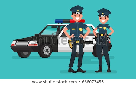Two police officers by the police car Stock photo © colematt