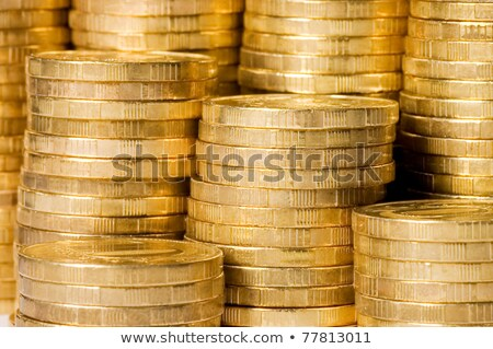 rupee golden coins on black background Stock photo © SArts