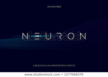 Neuron Letters and Numbers Stock photo © leedsn
