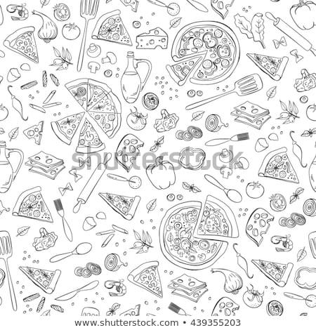 пиццы деревенский итальянский приготовления пиццерия Сток-фото © Lightsource
