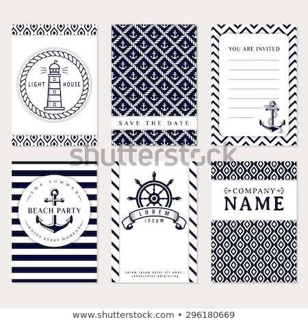 Set of lighthouses pattern Stock photo © netkov1