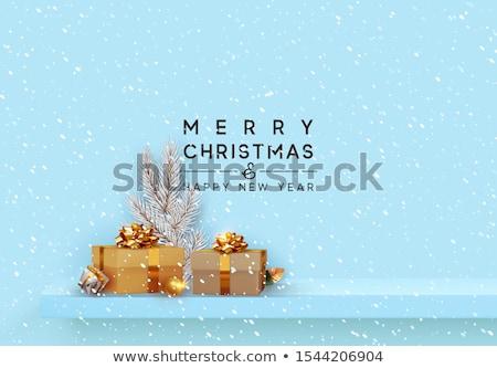 karácsony · vásár · szalag · vektor · sablon · cukorka - stock fotó © robuart