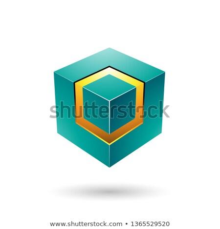 Verde cubo núcleo vector ilustración Foto stock © cidepix
