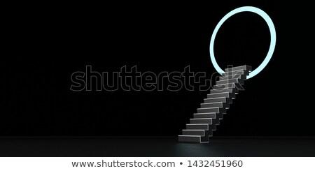 Trappenhuis dimensie ring ander 3d illustration licht Stockfoto © limbi007