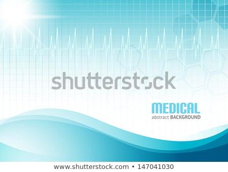 latido · del · corazón · supervisar · médicos · electrocardiograma · azul · corazón - foto stock © sarts