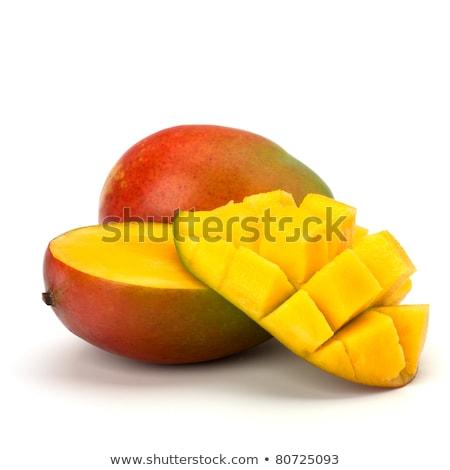 Mangó izolált menta gradiens háló étel Stock fotó © cammep