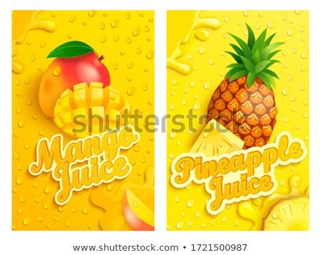 Vektör ayarlamak ananas gıda dizayn yaprak Stok fotoğraf © olllikeballoon