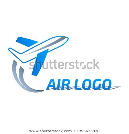 Samolot projektowanie logo działalności projektu Zdjęcia stock © djdarkflower