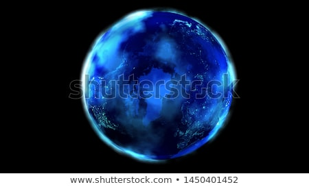 realistic earth from space showing asia and north america stock photo © conceptcafe