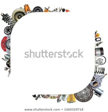 Vektor autó keretek izolált fehér olaj Stock fotó © dashadima