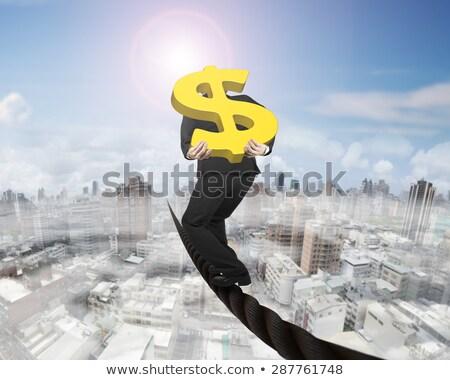 3D işadamı altın dolar işareti örnek Stok fotoğraf © 3dmask