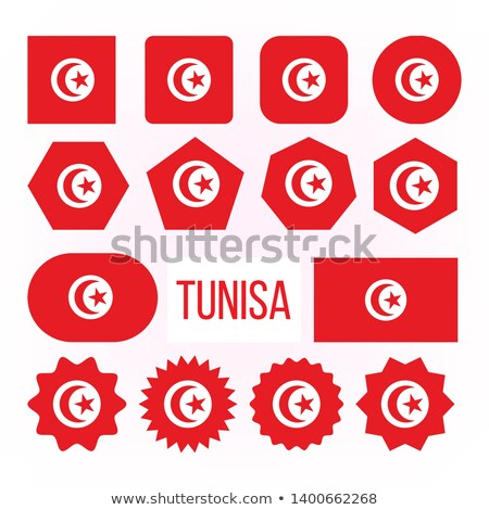 Tunisia Flag Collection Figure Icons Set Vector Stock photo © pikepicture