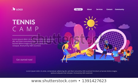 Tennis camp concept landing page. Stock photo © RAStudio