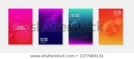 Colorido ondulado fluido vibrante fundo arte Foto stock © SArts