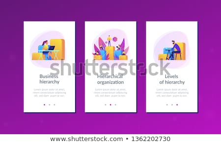 Business hiërarchie app interface sjabloon zakenlieden Stockfoto © RAStudio