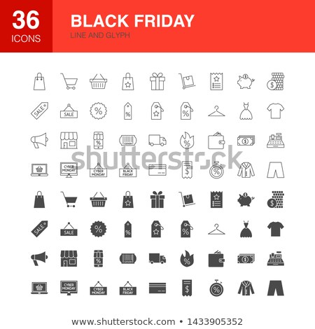 Black friday ligne web icônes Shopping Photo stock © Anna_leni