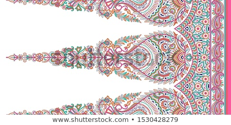 Seamless pattern based on traditional Asian elements Paisley. Boho vintage style vector background.  Stock photo © sanyal