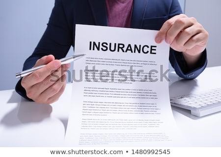 empresário · seguro · documento · negócio - foto stock © andreypopov