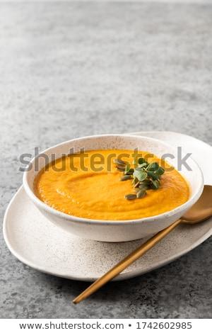 Crème citrouille soupe gris régime alimentaire végétarien Photo stock © Illia