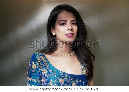 çekici · Asya · yüz · moda · dudaklar · makyaj - stok fotoğraf © serdechny