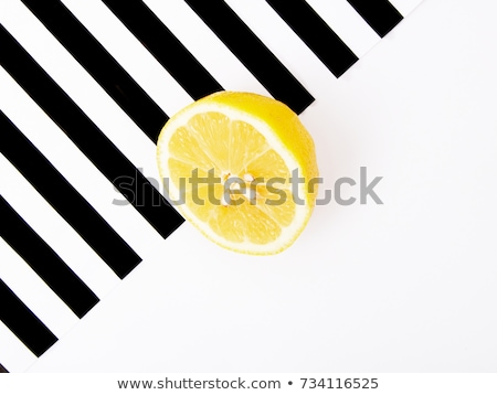 Pop art. Minimalist art. Fashion Glamorous Citrus mood. Minimal Stillife. Fresh lemon Stock photo © serdechny