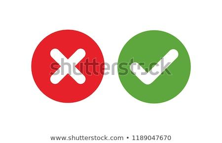 Verificar atravessar ilustração verde cruz vermelha Foto stock © vectomart