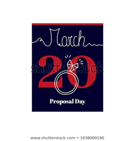 ダイヤモンドリング カレンダー シート バレンタインデー 宝石 休日 ストックフォト © dolgachov