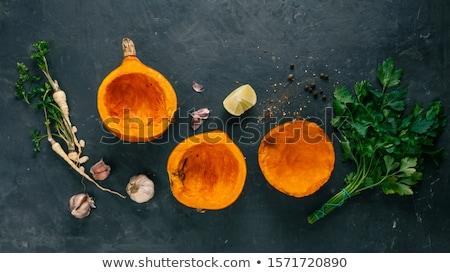 Calabaza especias cocina caída vegetales amarillo Foto stock © furmanphoto
