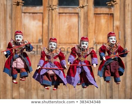 Asian fantoccio show gruppo legno giocattolo Foto d'archivio © lichtmeister