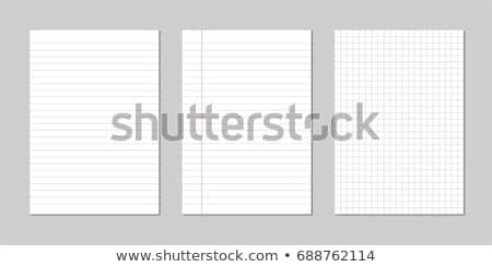 Hoja papel línea cuaderno aislado blanco Foto stock © kup1984