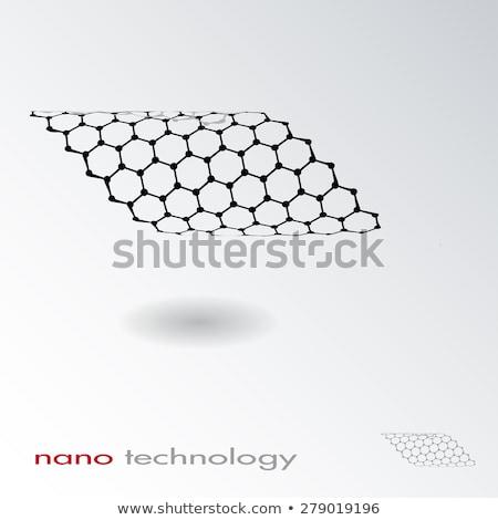 Absztrakt nano technológia net struktúra logo Stock fotó © kyryloff