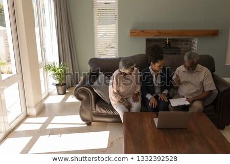 мнение старший афроамериканец человека подписания Сток-фото © wavebreak_media