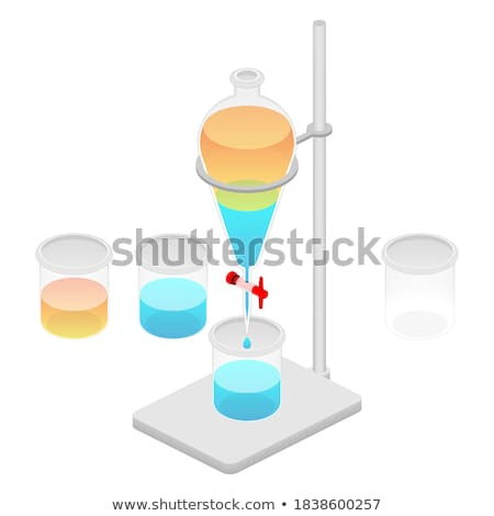 Two beakers on the stand Stock photo © bluering
