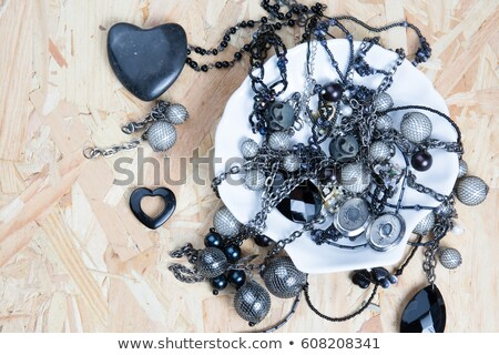 Beautiful fashionable jewelry and accessories collection  backgr Stock photo © Margolana