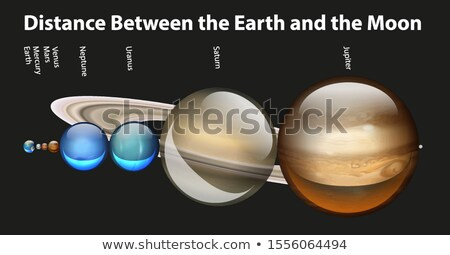 Diagram showing distance between earth and moon Stock photo © bluering