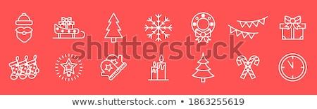 Merry Christmas Congrats, Symbols Winter Holiday Stock photo © robuart