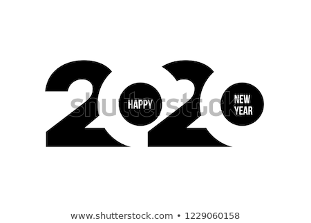 abstract blue and white 2020 calendar template design Stock photo © SArts