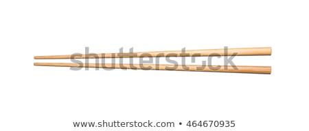 Bois baguettes blanche isolé bois bambou Photo stock © magraphics