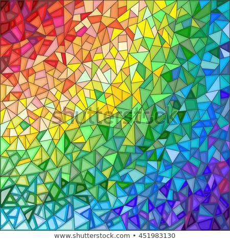 Glasmalerei abstrakten Hintergrund Fenster Architektur Muster Stock foto © nomadsoul1