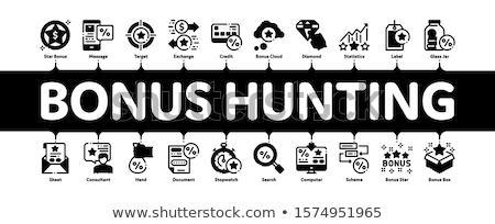 Bonus Hunting Minimal Infographic Banner Vector Stock photo © pikepicture