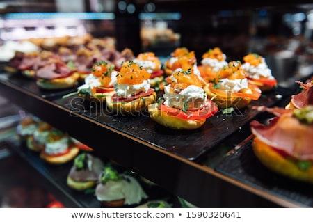 Grande variedade tradicional tapas frutos do mar Espanha Foto stock © ruslanshramko