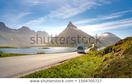 VR Caravan car travels on the highway. Stock photo © cookelma