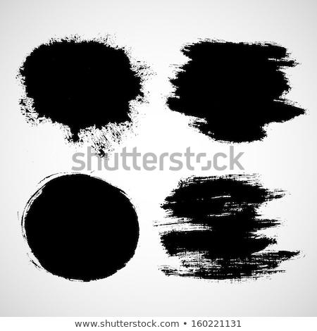 黒 塗料 斑 セット 装飾的な デザイン ストックフォト © Decorwithme