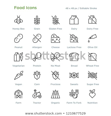 Allergens - vector line design style icons set Stock photo © Decorwithme